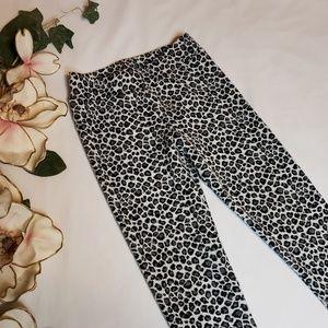 Girls Xhilaration Leopard Print Leggings | Size Sm